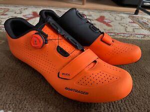 Bontrager Velocis Road Cycling Bike Shoes Size 45 Orange and Black