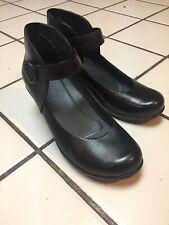 DANSKO Black Leather Platform Wedges Mary Jane eu 37 US 6.5 - 7