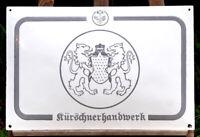 altes Original Emailschild Kürschnerhandwerk Emaille seltenes Sammlerstück