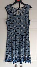 Max Studio TK MAXX Dress Medium M 10 12 Blue Patterned Summer stretch