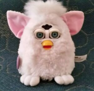 White Furby Baby 1999 great working condition