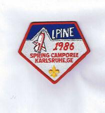 Transatlantic Co. Alpine Dist.1986 Spring Camporee Traded At 2019 World Jamboree