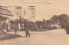 NANCY 55 le parc sainte-marie et la maison alsacienne timbrée 1921