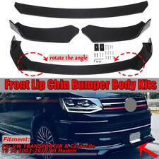 Front Bumper Lip Body Kit Spoiler For VW Transporter & Caravelle T5 T6 2003-2018