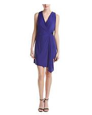 NWT BCBG  Max Azria Eda purple asymmetrical belted jersey wrap Dress size 6