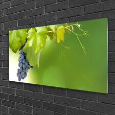 Glass print Wall art 125x50 Image Picture Grapes Kitchen