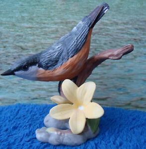 Nuthatch - The Franklin Mint Porzellanfigur - Porzellanvogel Vogel Porzellan