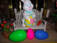 3 XL FILLABLE NESTING EASTER EGG BOXES CONTAINER BLOW MOLD EGGS bunny rabbit