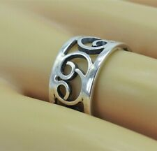 Crab Zodiac 69 band Ring Mexico 6 Vintage Taxco Solid 925 Sterling Silver Cancer