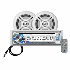 "Dual MCP426BT CD Boat Marine Stereo Bluetooth Multi Color & 6.5"" Speaker Package"