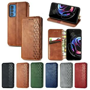 Leather Wallet Card Slot Magnetic Flip Case For moto G9 Plus G30 G50 G8 G 5G