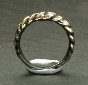 A superb genuine ancient Viking bronze ring. Wearable