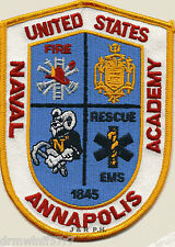 """NAVY - Naval Academy, Annapolis, MD  (3.5"""" x 5"""" size) fire patch"""