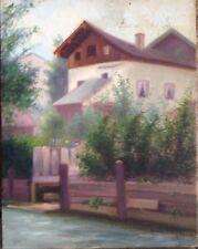 Villa Dipinto a Olio Emil Mahr ? Oggetto D'Antiquariato Märchenwolle ° Bello