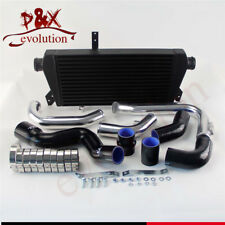 Front Mount Intercooler+Pipe Kit for Audi A4 1.8T Turbo B6 Quattro 02-06 Black