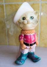 """9""""=23cm CCCP Russian PUSS in BOOTS Cat rubber Toy Doll FIGURINE Soviet USSR 70's"""