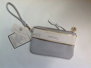 New Adorable Adrienne Vittadini Charging Wallet Fits all Phones - Grey