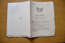 ANTICO DOCUMENTO VITTORIO EMANUELE II RE SARDEGNA SAVOIA 17 11 1853 SUBALPINA