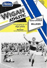 Football Programme>WIGAN ATHLETIC v BLACKPOOL Sept 1988