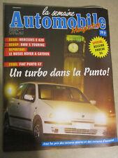 LA SEMAINE AUTOMOBILE: n°393: 23/04/1994: FIAT PUNTO TURBO - BMW 5 TOURING - 420