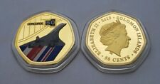1969-2019 50th Anniversary - Concorde Taking Flight - Gold Plated 50 cent Coin