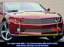 Fits Chevy Camaro LT/LS/RS V6 Billet Grill Insert Combo 2010-2011