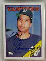 Rare 1988 Topps Traded John Candelaria Auto Autograph Card Yankees Signed # 25T