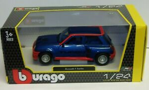 Bburago burago Renault 5 Turbo Blue 1/24 Scale  die-cast  Car Model