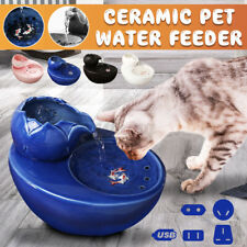 Us Stock Ceramic Cat Dog Pet Automatic Circulating Water Dispenser Fountain