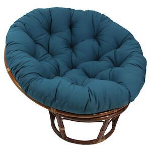 44-inch Solid Twill Papasan Cushion (Fits 42-inch Papasan Frame) - Indigo