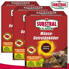 Substral Celaflor 3x 100g Mäuse-getreideköder Alpha C Gift Lutte Contre Grenier