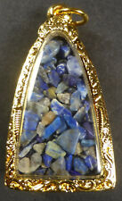 LAPIS BLUE SARIRA PHRA THAT THAD  BUDDHA AMULET CHEST RELIC WAT MAHATHAT