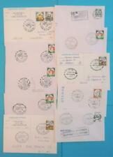 Italien Posten / Lot 60 Stck. 1990-2000 Belege Hubschrauber mit Sonderstempel