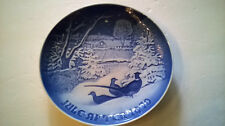1970 Christmas Eve Plate B & G Bing Grondahl Jule Aften Pheasants In Snow @ Xmas