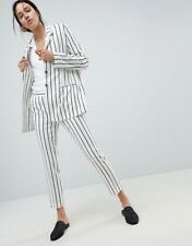 *NEW WITH TAGS* ASOS DESIGN Women's tailored linen longline relaxed stripe suit