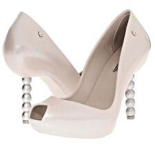 $290 MELISSA Shoes Pearl + Karl Lagerfeld Wedding Beige White Pump Sandals Heels