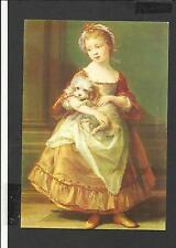 Art Postcard Countess Stanhope Holding a Dog Popeo Batoni Medici Society