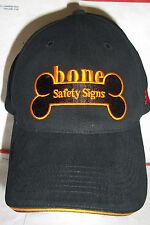 Bone Safety Signs Black Cap with 3M Logo www.Bonesafety.com  Hat
