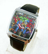 Marvel Super Hero Steel Watch Wrist Quartz Xmas Fashion Boy Man ZV