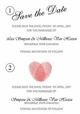 Personalised Save the Date Cards - 50 cards with envelopes