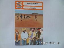 CARTE FICHE CINEMA 1971 PUNISHMENT PARK Carmen Argenziano Stan Armsted