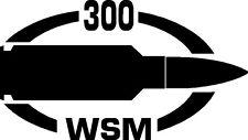 300 WSM gun Rifle Ammunition Bullet exterior oval decal sticker car or wall