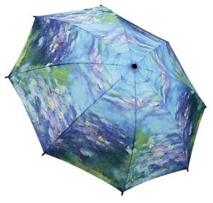 UMBRELLA MINI CLAUDE MONET WATERLILIES FLOWERS IMPRESSIONIST ART PROVENCE FRANCE