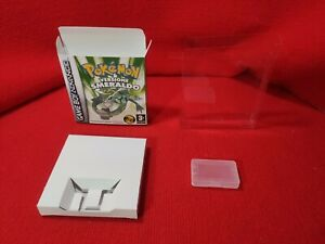 Nintendo Gameboy Pokémon Versione smeraldo Box Repro Case Custodia ITA NO GIOCO
