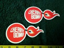 Lot of 2 Vintage Cherry Bomb Exhaust Racing Decals NHRA NASCAR Hot Rod Stickers