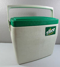 Vintage Slice 1984 COLEMAN Portable Camping Hiking Green White Cooler Ice Chest