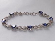 Handmade Tennis Sterling Silver Fine Bracelets