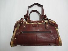 HAYDEN-HARNETT PAULE MARROT EDITIONS BROWN LEATHER MULTI-COLOR CANVAS BAG NWT