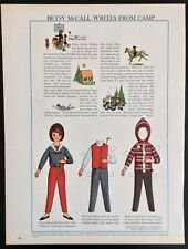 Vintage Betsy McCall Mag. Paper Doll, Betsy McCall Writes from Camp, July 1964