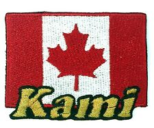 Flag of Canada Custom Iron-on Patch With Name Personalized Free
